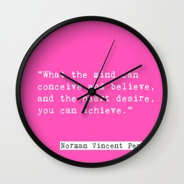 Norman Vincent Peale quote Wall Clock