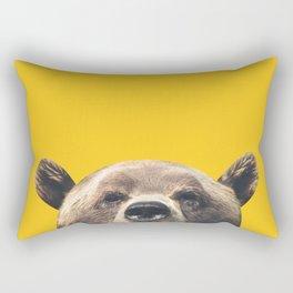 Bear - Yellow Rectangular Pillow