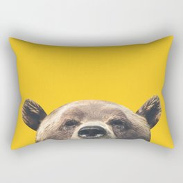 Bear - Yellow Rectangular Pillow