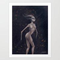 baphomet Art Prints featuring Baphomet by V Holecek
