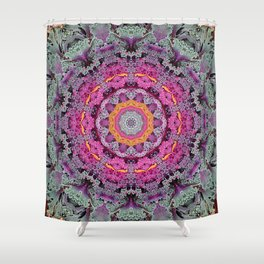 Kale mandala Shower Curtain
