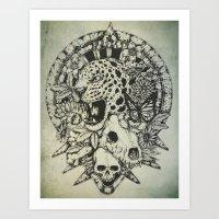 jaguar Art Prints featuring Jaguar  by Erick Gonzaga