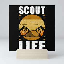 Scout Life | Camping Scouts Scouting Gift Mini Art Print