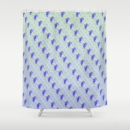 Stripes and Violets Shower Curtain