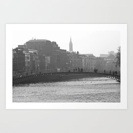 Ha'Penny Bridge Art Print