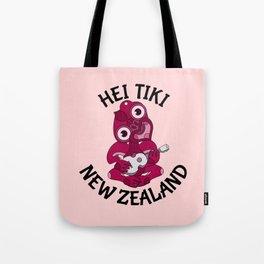 Pink Hei Tiki with Ukulele Tote Bag