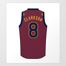 Jordan Clarkson Jersey Art Print