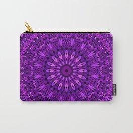 Purple Spiritual Flower Garden Carry-All Pouch