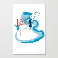 spirited away Canvas Prints featuring Spirited by IlonaHibernis