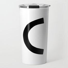 C Monogram (Hand 2) Travel Mug