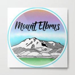 Mt. Elbrus Metal Print