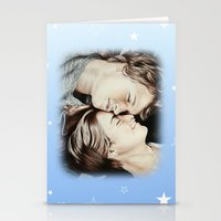 the fault in our stars Stationery Cards featuring The Fault in Our Stars by Francesca Cosentino