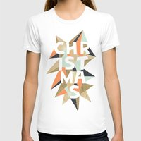 sparkle T-shirts featuring Christmas Sparkle by louandthetwin