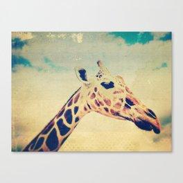 Vintage Giraffe  Canvas Print