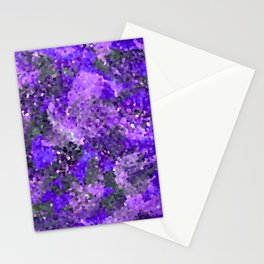 Aftermath of Spring, Abstract Floral Mosaic Art Stationery Cards
