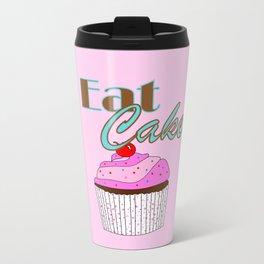 Eat Cake - Typography Travel Mug