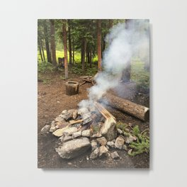Smokey Campfire Metal Print