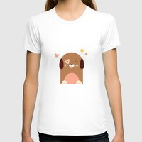 puppies T-shirts featuring Twin Puppies by Gabriella