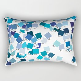 Pantone Blue Rectangular Pillow