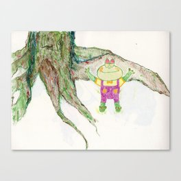 Froggy takes a nap Canvas Print
