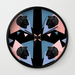Dickface Pattern Wall Clock