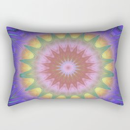 Royal Purple Ethereal Glow Rectangular Pillow