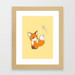 Cute Little Fox Watching Butterly Framed Art Print