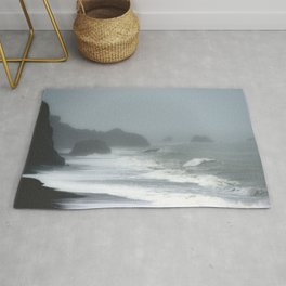 Pacific Northwest Beach Storm Rug