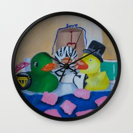 Rubber Ducky Wedding Wall Clock