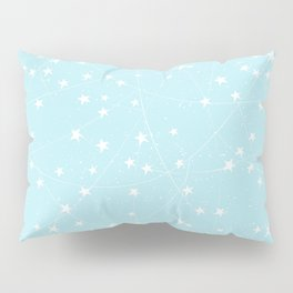 Merry Christmas- Teal Festive Stars X-Mas Pattern Pillow Sham
