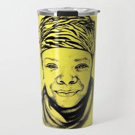 Maya Angelou - (yellow) Sketch to Digital Travel Mug