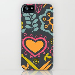 Poster Background | Floral Romantic Patterns iPhone Case