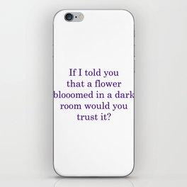 Poetic Justice iPhone Skin