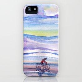 Winter bike ride iPhone Case