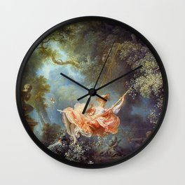 Jean-Honoré Fragonard - The Swing Wall Clock