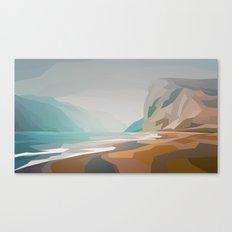 Cliffs - misty Canvas Print