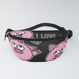Pig Piglet animal welfare tee I love Animal Cute Fanny Pack