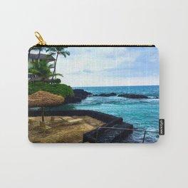 Hawaiian Beach Scene Lava Rocks on the Big Island Carry-All Pouch