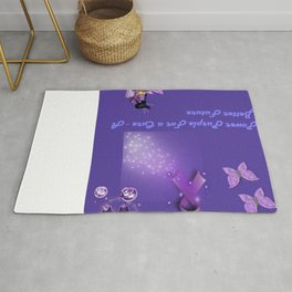 Power Purple For a Cure - A Better Future Rug