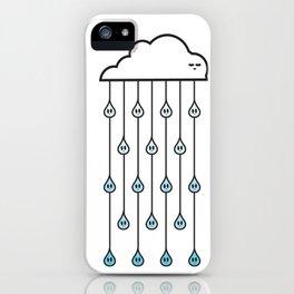 cloud and rain iPhone Case