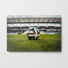 Soccer Ball Field Metal Print