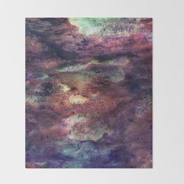 Space Algae Throw Blanket
