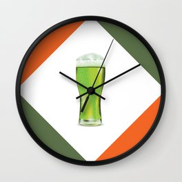 Green beer glass Wall Clock