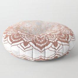 ROSE GOLD MANDALA Floor Pillow