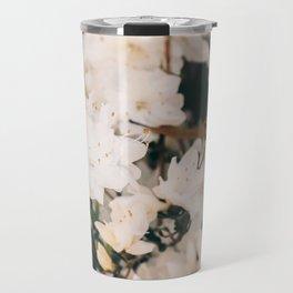 White Mini azaleas #floral Travel Mug