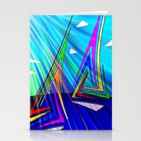 sail Stationery Cards featuring SAIL. by capricorn