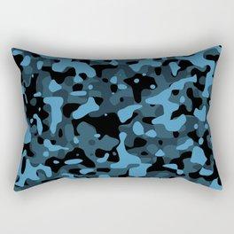Dark Blue Camo Rectangular Pillow
