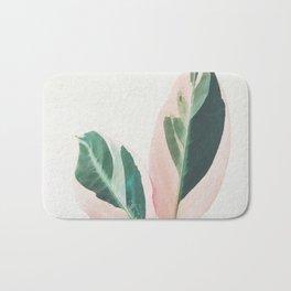 Pink Leaves I Bath Mat