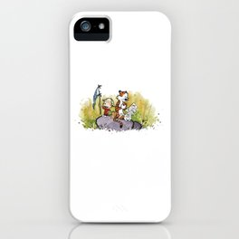 Calvin And Hobbes mapping iPhone Case