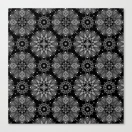 Black and white abstract pattern .14 Canvas Print
